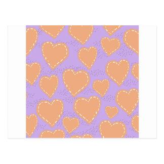hearts scrapbook postcard