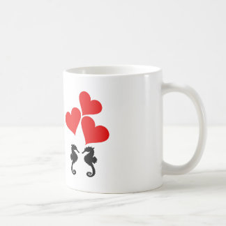 Hearts & Seahorse Coffee Mug
