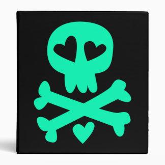 Hearts skull and crossbones vinyl binders