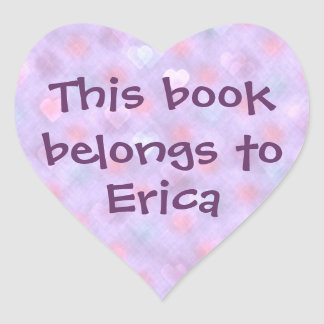 Hearts Spots Personalized Bookplate Heart Sticker