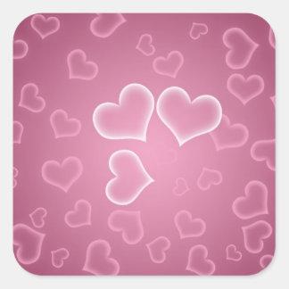 Hearts Square Sticker