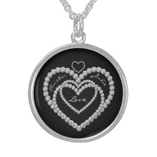 Hearts Sterling Silver Necklace