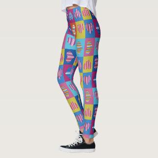 Hearts Striped Multicolor Leggings