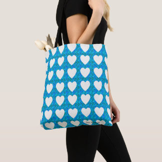 Hearts-Summer-Blue(c) Multi-Styles & Sizes Tote Bag