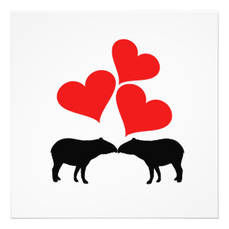 Hearts & Tapirs Photo Print