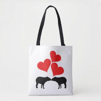 Hearts & Tapirs Tote Bag