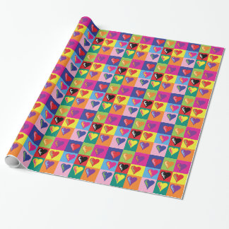 Hearts Times Nine Wrapping Paper