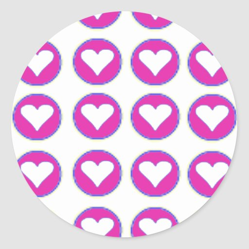 Hearts Together The MUSEUM Zazzle Gifts Round Stickers
