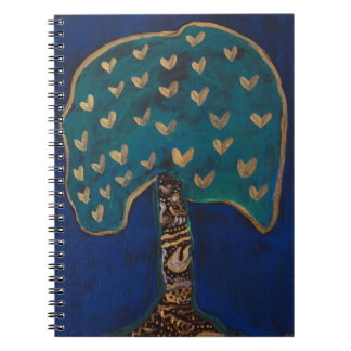Hearts Tree Love Magic Illustration Notebook