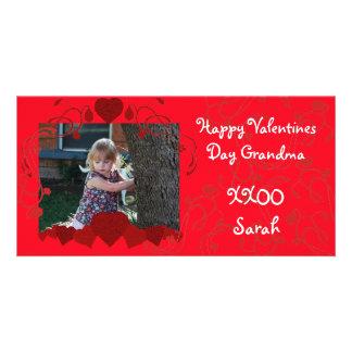 Hearts Valentine Photocard Photo Greeting Card