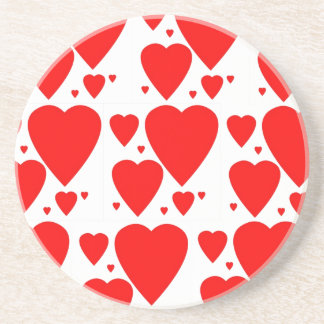 Hearts Valentine's coasters