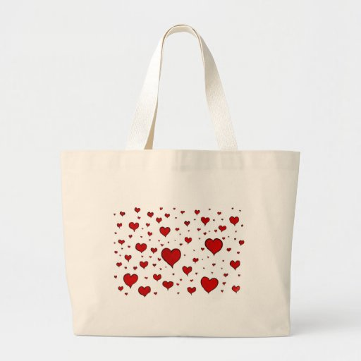 Hearts Valentines Day Canvas Bag