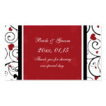 Hearts Valentine's Day Wedding Favour Tags Pack Of Standard Business Cards