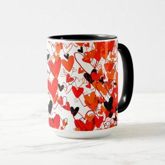 Hearts Vibrant Colorful Dramatic Love Fantastic Mug