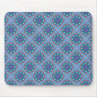 Hearts Vintage Kaleidoscope Blue  Mousepad