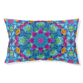 Hearts Vintage Kaleidoscope Dog Bed