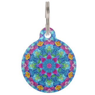 Hearts  Vintage Kaleidoscope Pet ID Tag