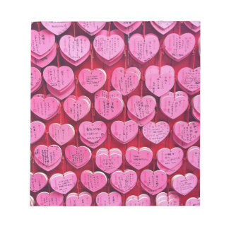 Hearts & Wishes Notepad