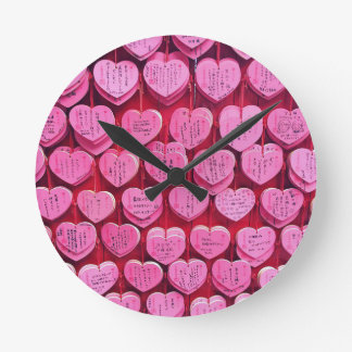 Hearts & Wishes Round Clock