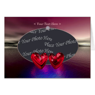 Heartscape photo frame greeting card