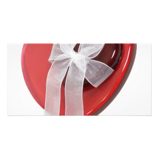 HeartsRibbon080209 Custom Photo Card