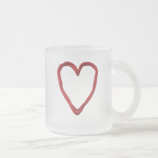 Heartstrings 10 Oz Frosted Glass Coffee Mug