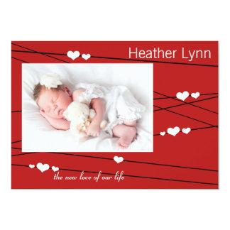 Heartstrings Photo Birth Announcement