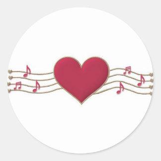 HeartStrings Round Sticker