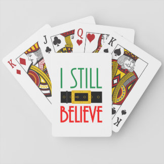 Heartwarming I Still Believe Christmas Santa Playing Cards