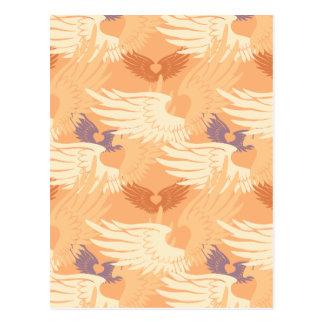 Heartwings Camouflage Blank (peach/beige/lavender) Postcard