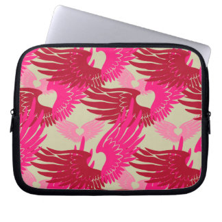 Heartwings Camouflage: Pink & Beige Laptop Sleeve