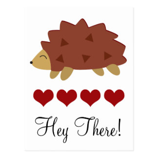 Hearty Hedgehog Postcard
