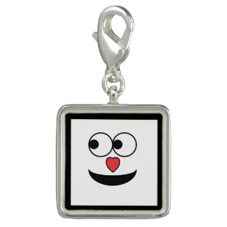 Hearty Nose Happy Face Photo Charm