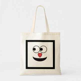Hearty Nose Happy Face Tote Bag