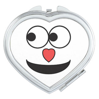 Hearty Nose Happy Face Travel Mirror