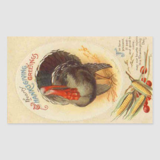 Hearty Thanksgiving Greetings Vintage Sticker