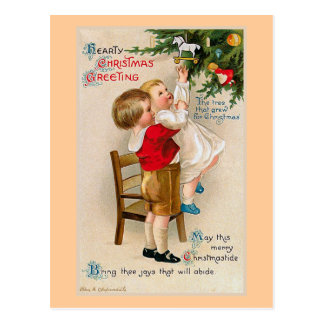 """Hearty Xmas Greetings"" Postcard"