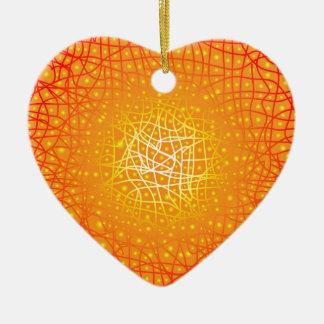 Heat Background Ceramic Heart Ornament