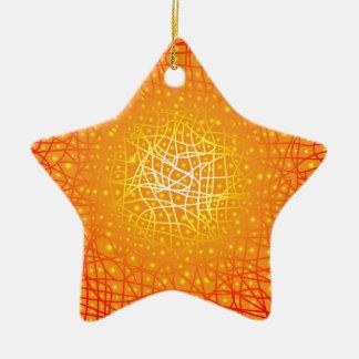 Heat Background Ceramic Star Ornament