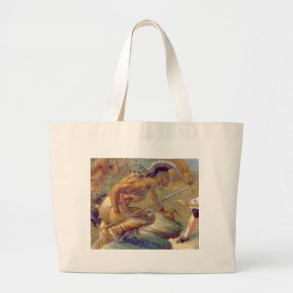 Heat of conflict large tote bag