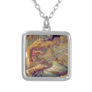 Heat of conflict silver plated necklace