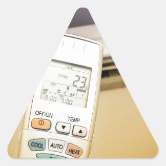 Heat or cool triangle sticker