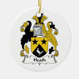 Heath Family Crest Ceramic Ornament