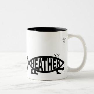 Heathen Fish Two-Tone Coffee Mug
