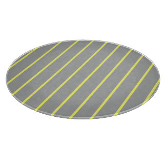Heather and Canary Pinstripe Cutting Board