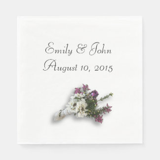 Heather and Lace Paper Napkin