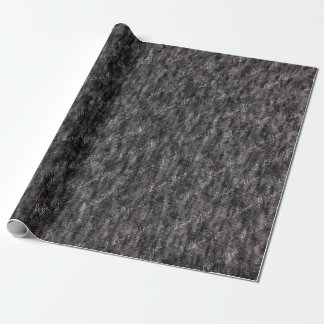 Heather charcoal grey knit fabric with custom name wrapping paper
