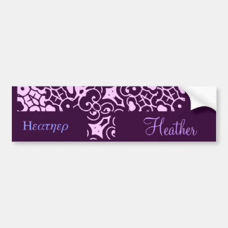 Heather Designer Name Bumper Sticker