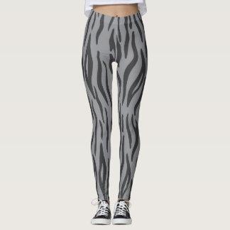 Heather Grey Zebra Print Leggings