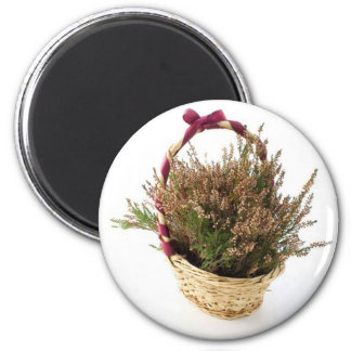 Heather In Basket Magnet